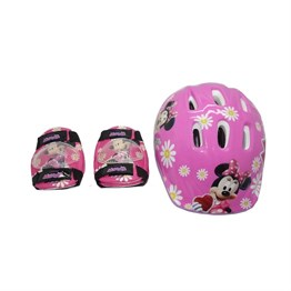 Minnie Mouse Kask ve Dizlik Seti